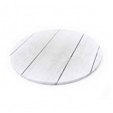 Cake Boards Round Timber Wood White