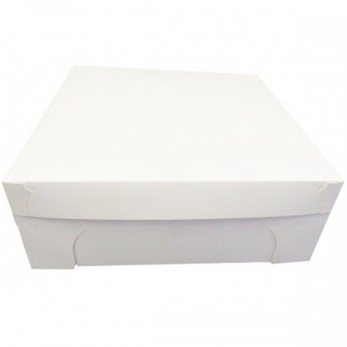 Cake Box with Lid Separate 16x16x6 inches 40x40x15 cm