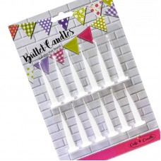 Candles Bullets White 12Pk