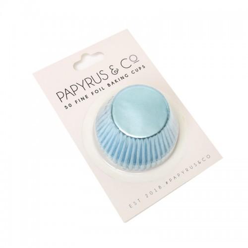 Baking Cups Standard Foil Pastel Blue pk 50