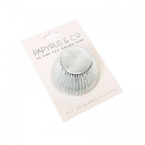Baking Cups Standard Foil Silver pk 50