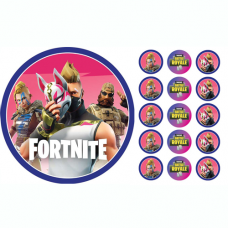 Edible Image Fortnite Cake Topper & Cupcake Topper Pack