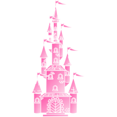 Edible Image Cake Topper Castle Pink