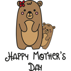 Edible Image Cake Topper Mother's Day Bear