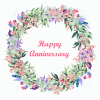 Happy Anniversary Edible Image Cake Toppers