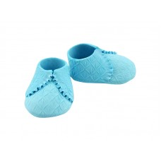 Booties Baby Shoes Quilted Blue SFBSH3BL