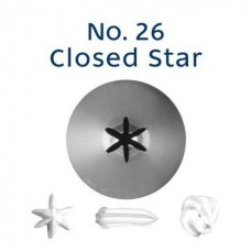 Piping Tip Tube Loyal Closed Star No. 26