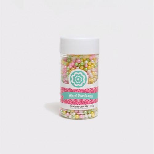 Sprinkles Cachous Pastel Sugar Pearls Mixed 4mm by Sugar Crafty 85g