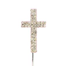 Cake Topper Diamante Cross