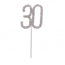 Cake Topper Diamante 30
